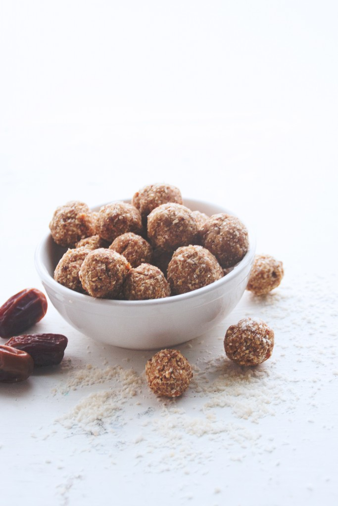 Almond Butter & Coconut Bliss Balls