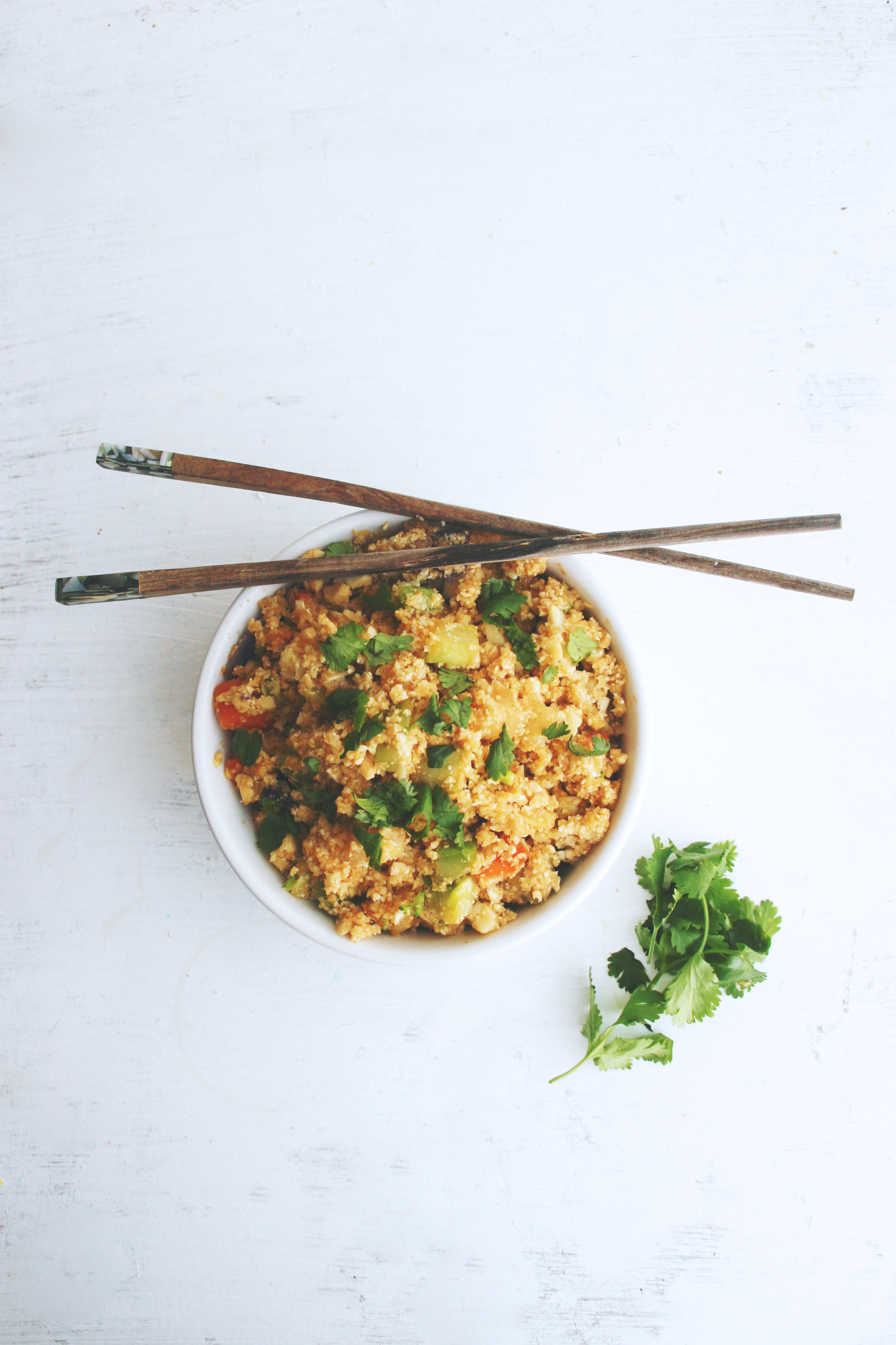 Vegan and Gluten-free Cauliflower Fried Rice
