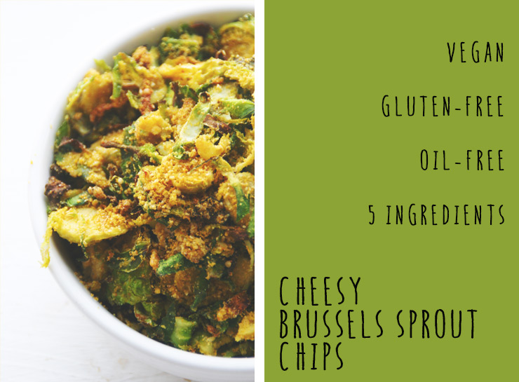 Cheesy Brussels Sprout Chips