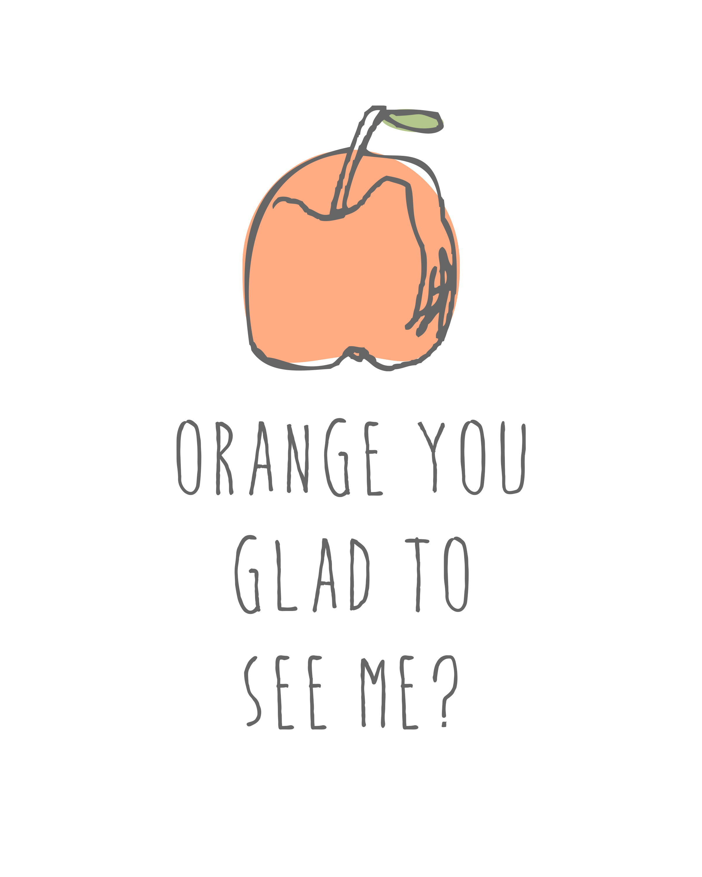 Free Downloadable Punny Fruit Art Print