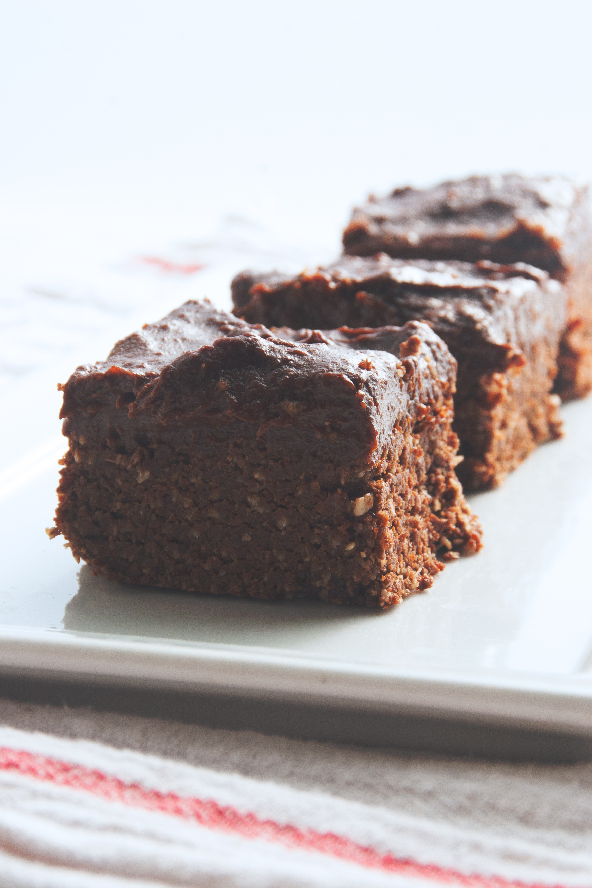 Brownies With Bourbon Caramel Frosting Recipe — Dishmaps