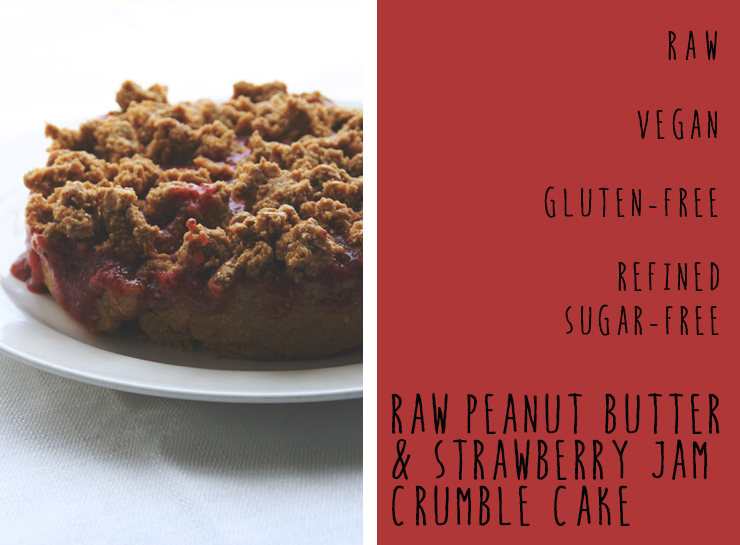 Tasty Tuesday // Raw Peanut Butter & Strawberry Jam Crumble Cake (R, V ...