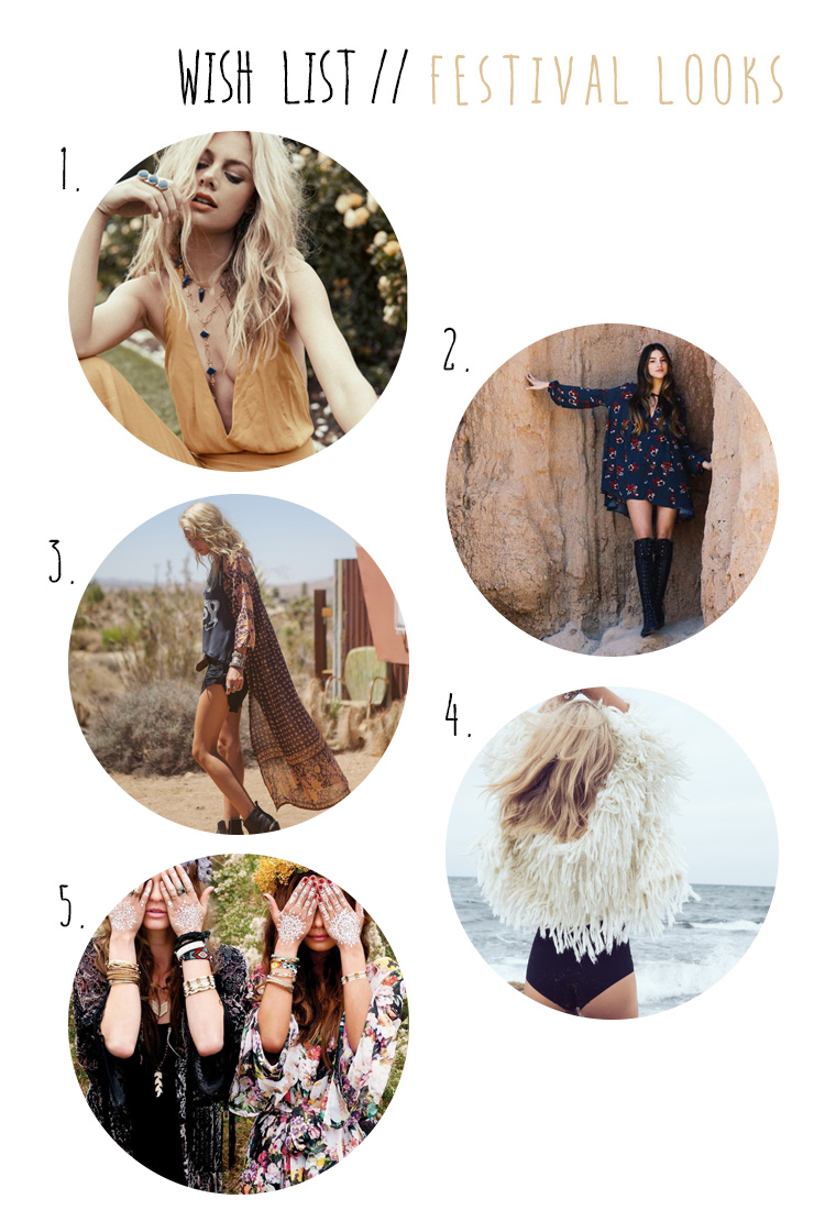 wish list wednesday // festival looks