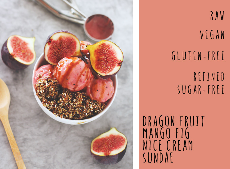 dragon fruit mango nice cream sundae #raw #vegan