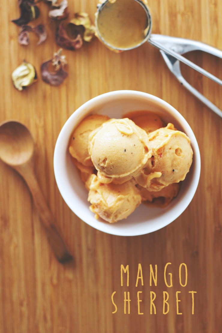 mango sherbet #raw #vegan #recipe
