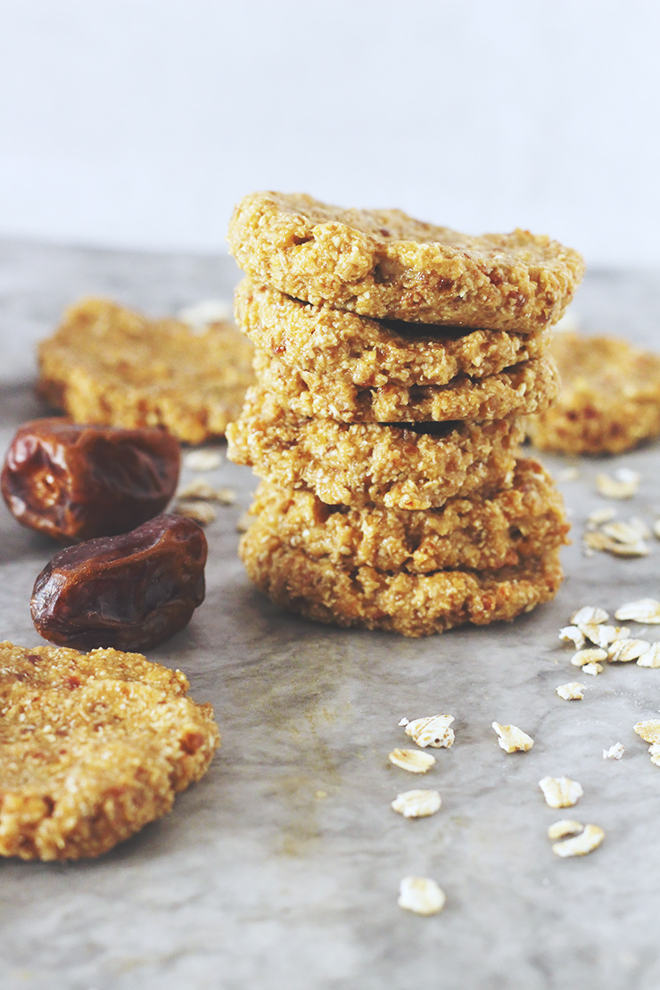 raw banana date oat cookies // raw, vegan, gluten-free, oil-free, nut-free, refined sugar-free