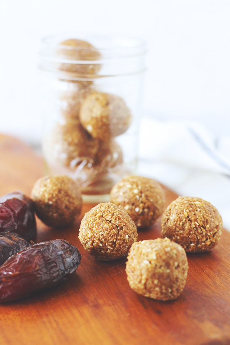 vegan & gluten-free salted caramel cookie dough balls