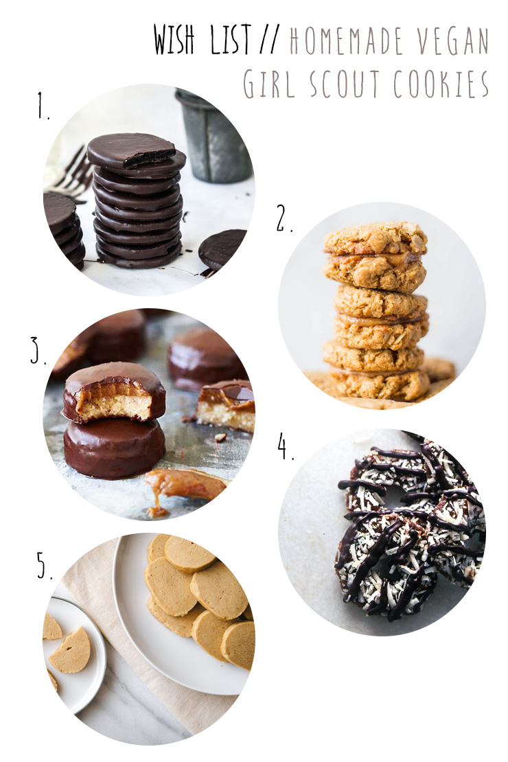 homemade vegan girl scout cookies