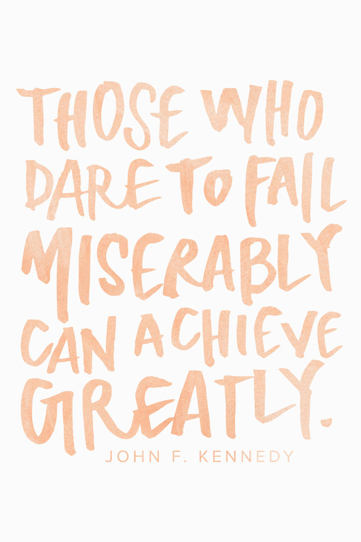 dare to fail #mantra