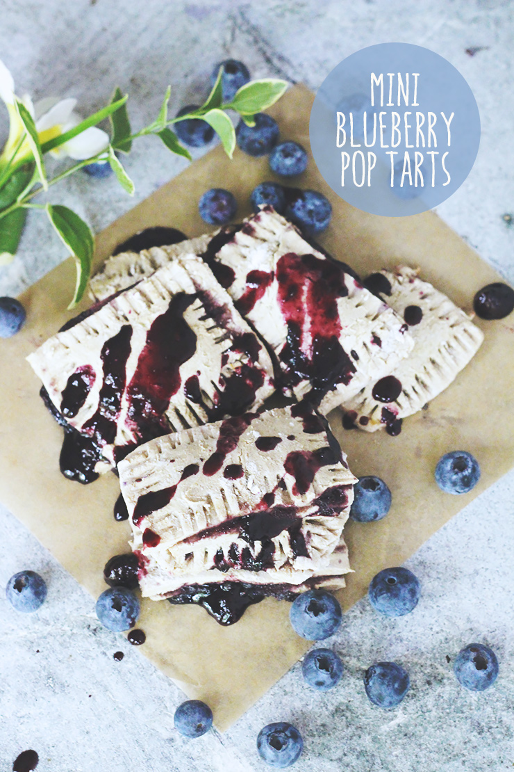 easy 7-ingredient VEGAN mini blueberry pop tarts #vegan #glutenfree #recipe