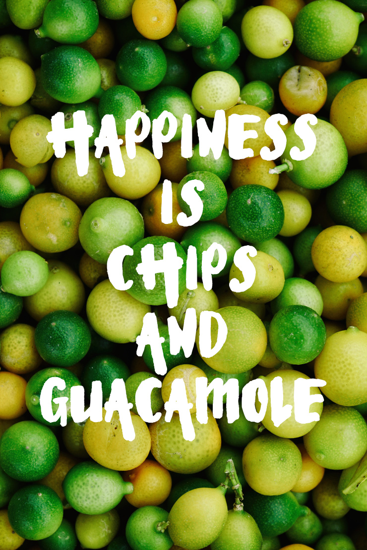 happiness is chips & guacamole