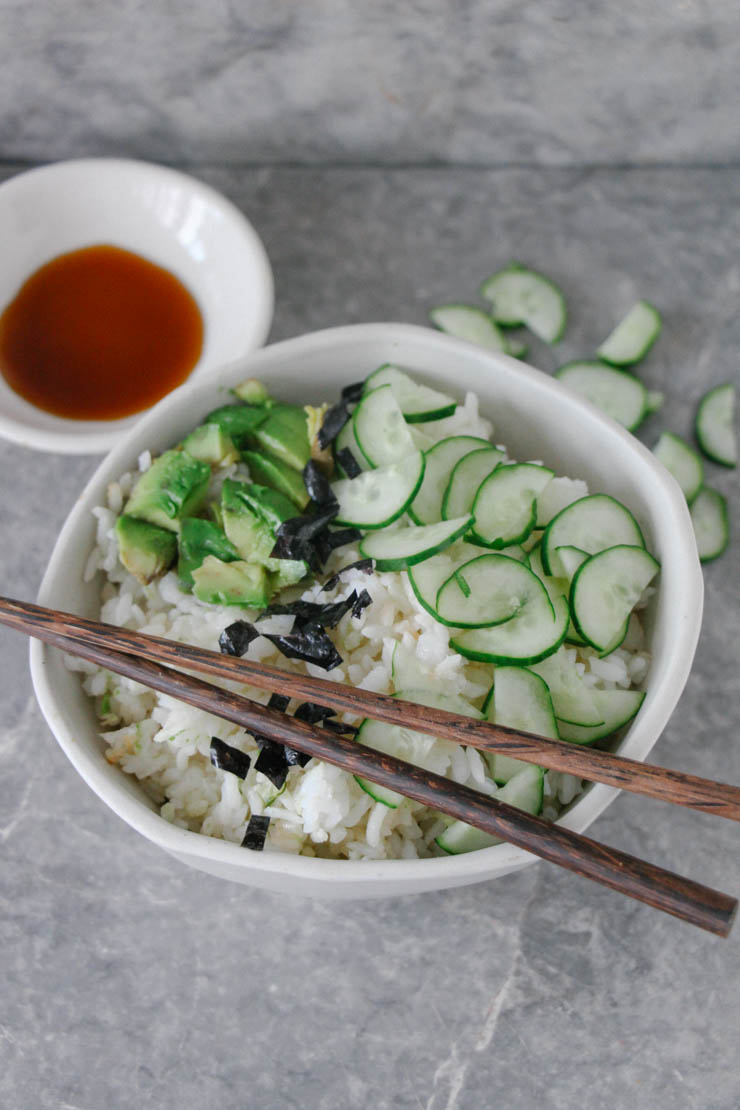 deconstructed sushi bowl #vegan #glutenfree #recipe