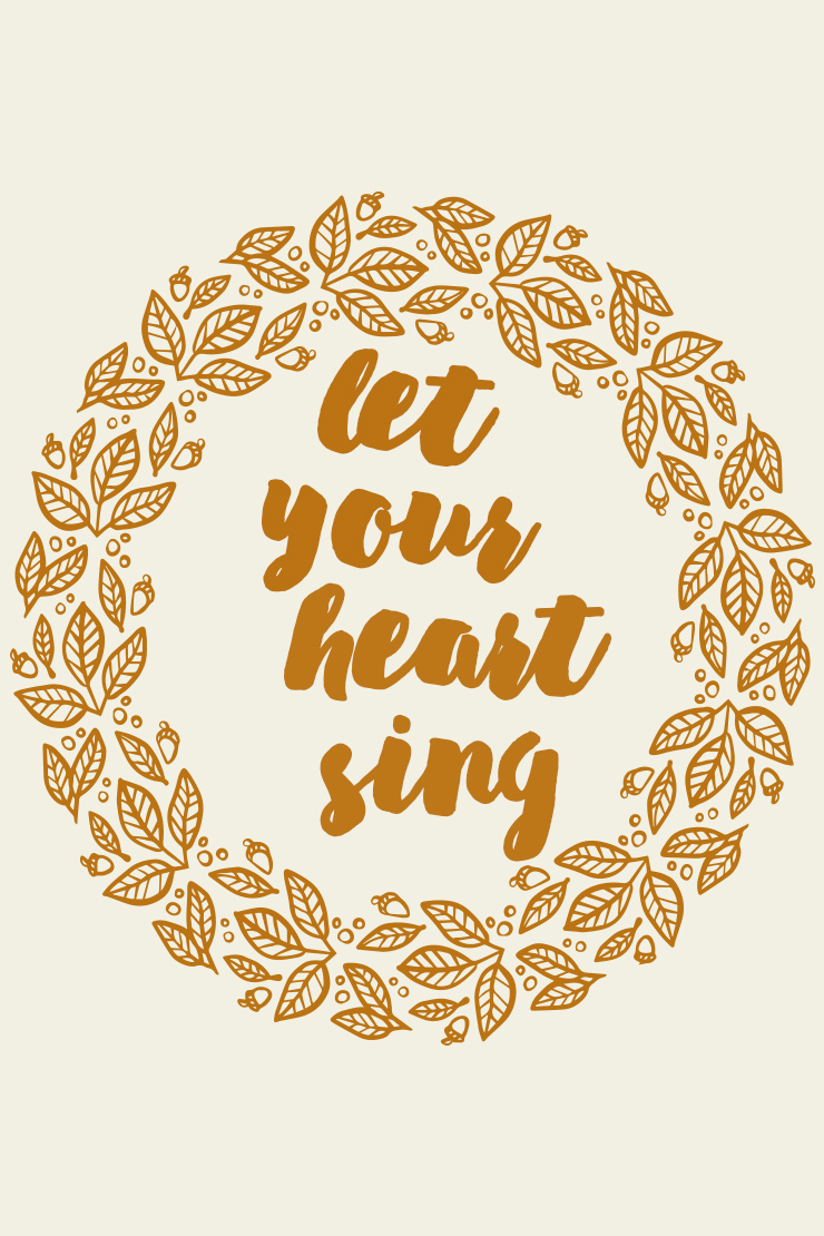 let your heart sing #mantra #monday