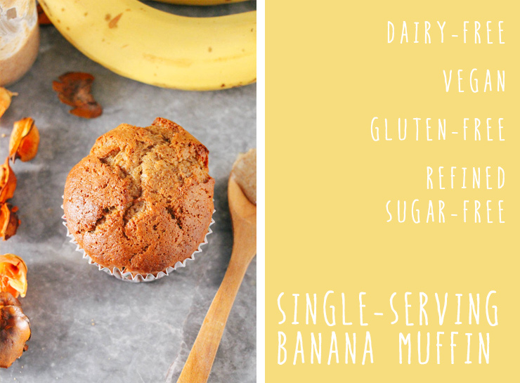 single-serving vegan & gluten-free banana muffin #vegan #glutenfree