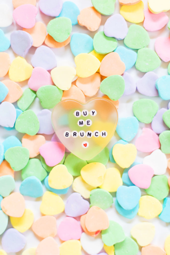 diy resin conversation heart paperweight