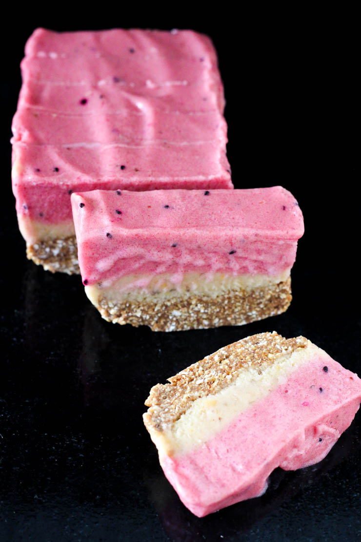 mango & dragon fruit ice cream bars #vegan #glutenfree
