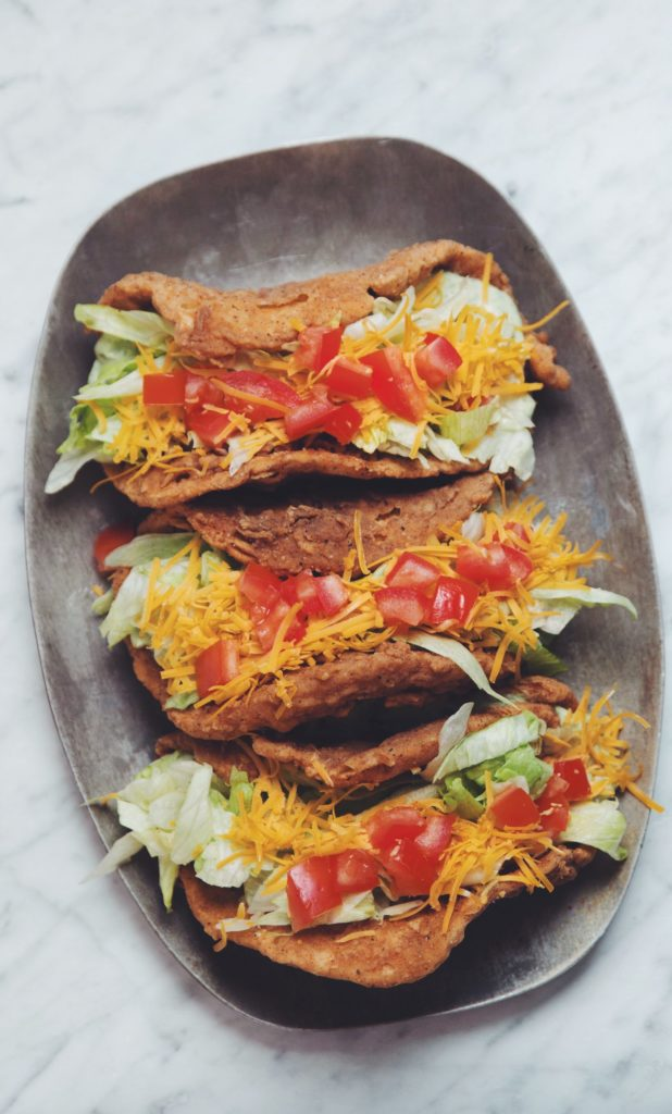 the naked chicken chalupa vegan taco // taco bell copycat #vegan